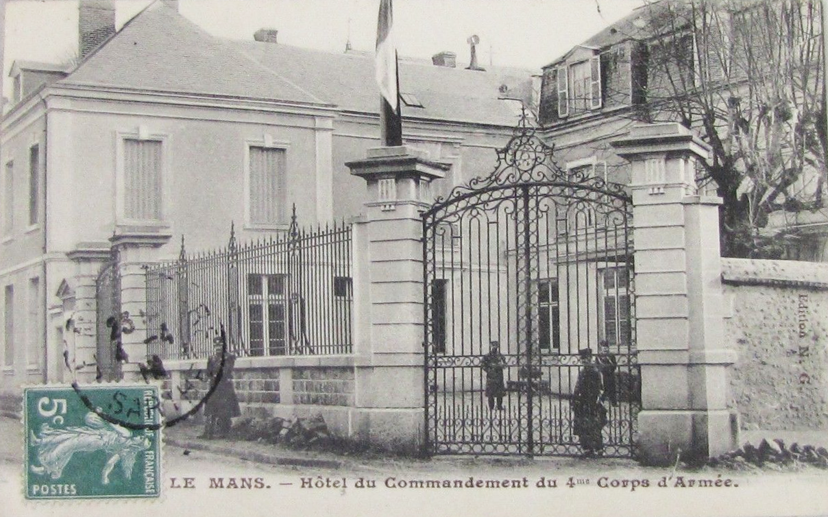Le Mans - Hôtel du Commandemant du 4ème Corps d'Armée