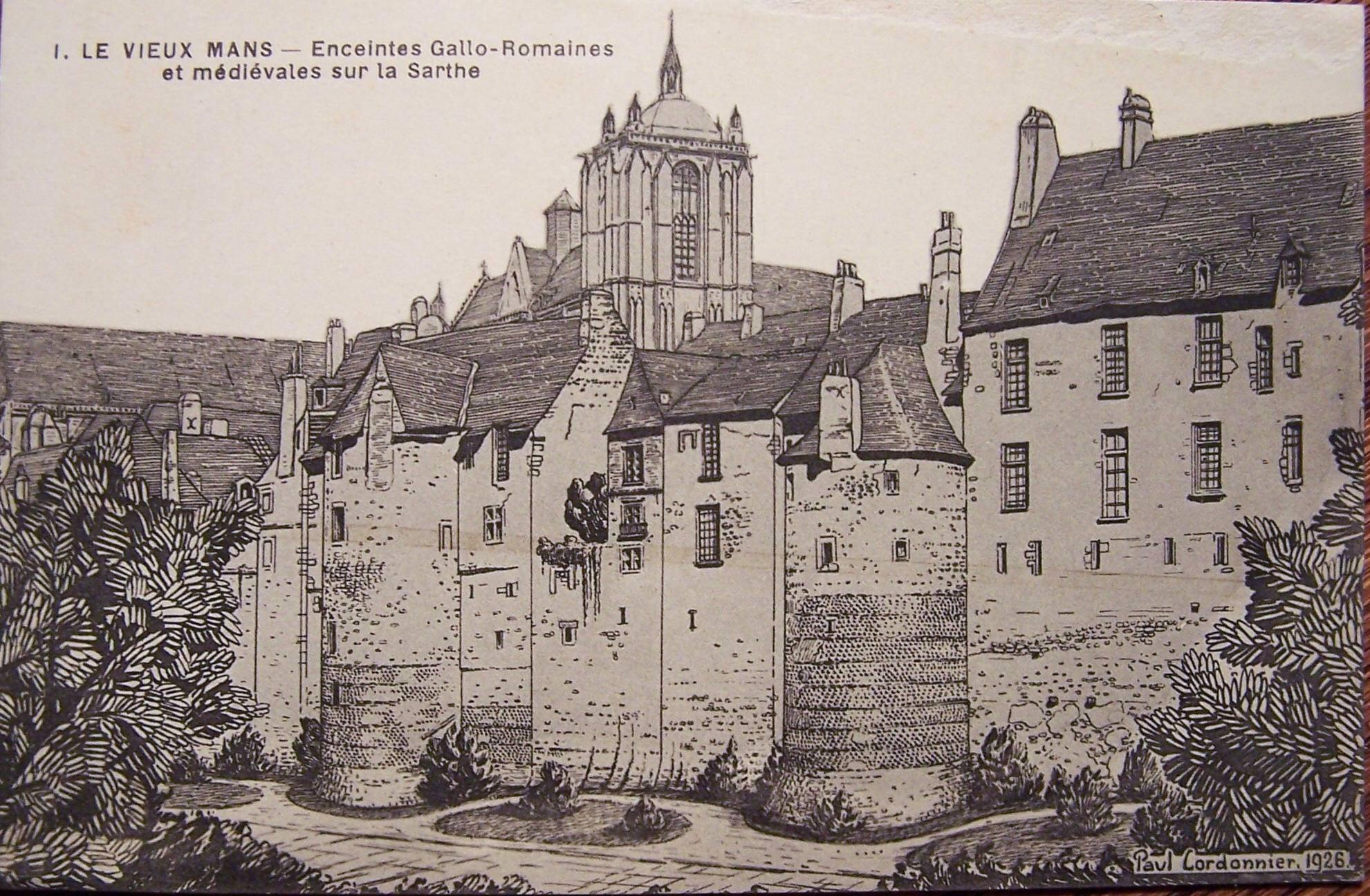 Le Vieux Mans - L'enceinte romaine - Enceintes Gallo Romaines et médiévales sur la Sarthe
