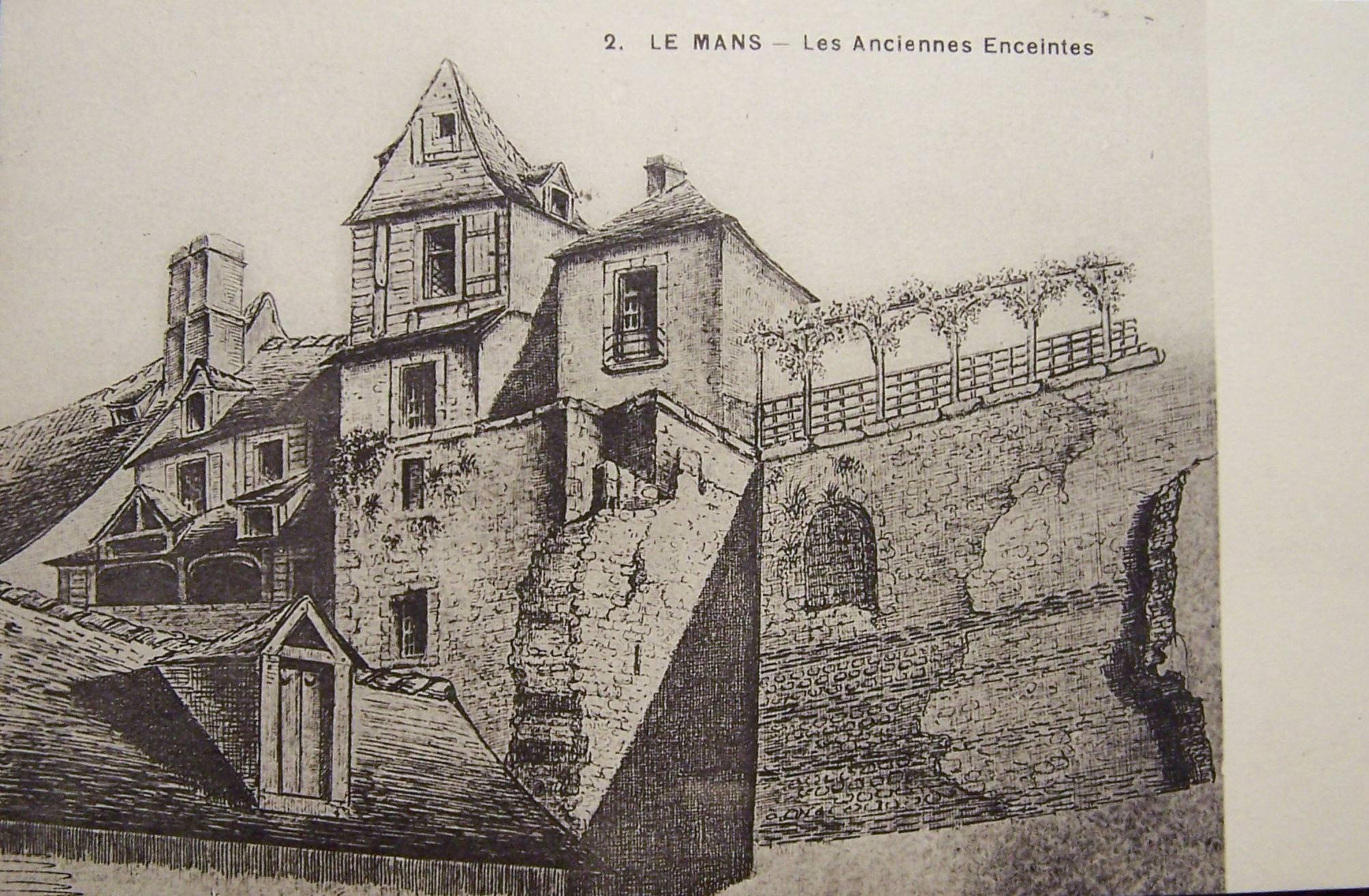 Le Vieux Mans - L'enceinte romaine - Les Anciennes Enceintes 01