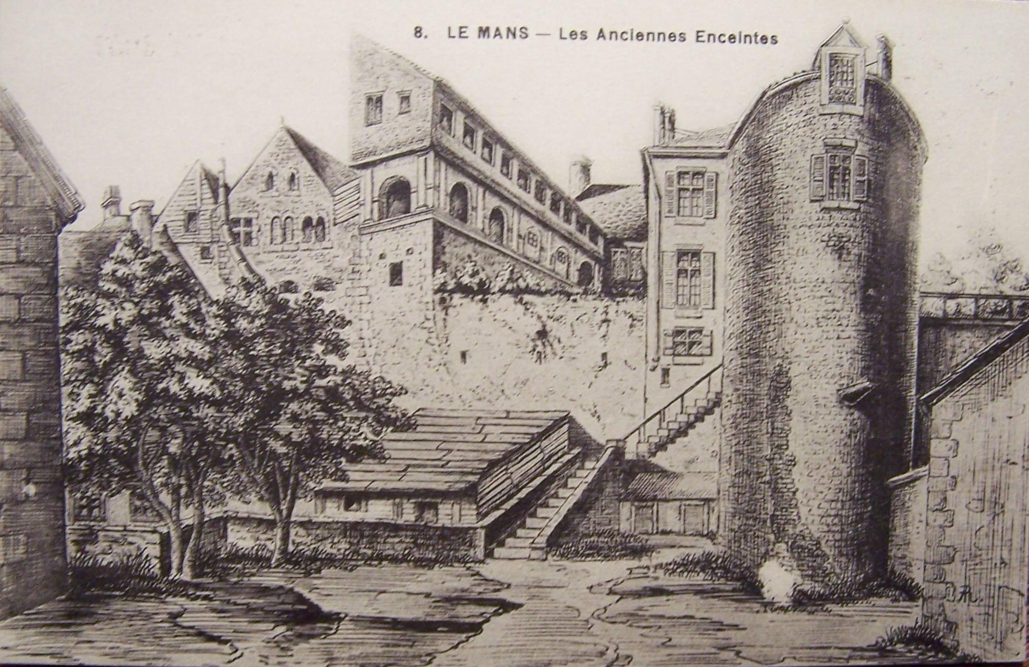 Le Vieux Mans - L'enceinte romaine - Les Anciennes Enceintes 02
