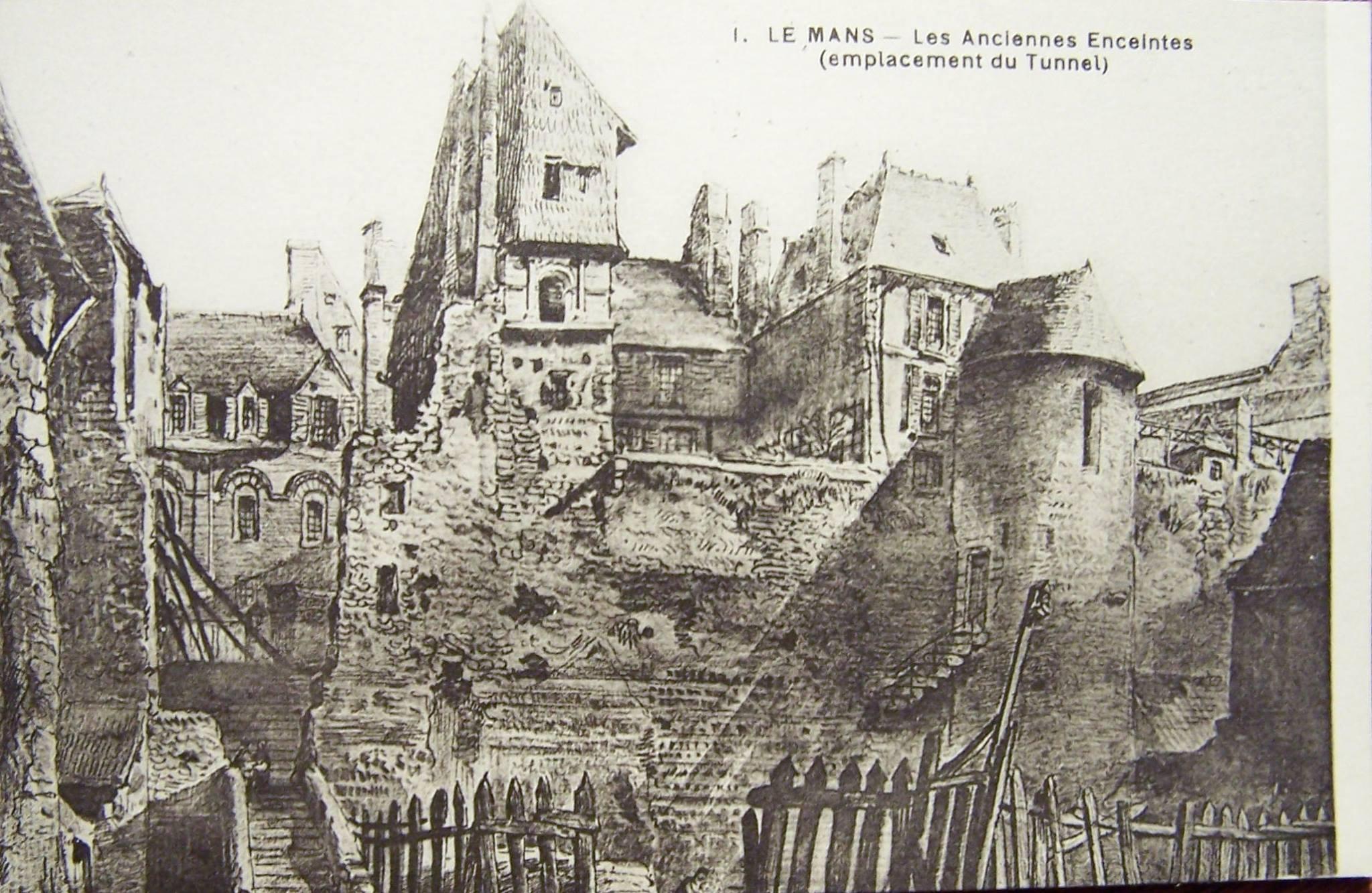 Le Vieux Mans - L'enceinte romaine - Les Anciennes Enceintes (emplacement du Tunnel) 01
