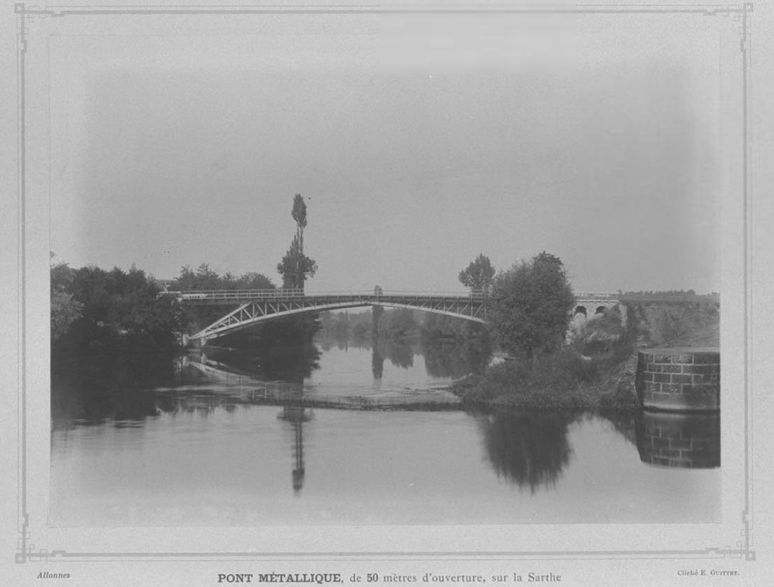 Allonnes - Pont de la Raterie - Pont métallique, de 50 mètres d'ouverture, sur la Sarthe (Philippe Gondard)