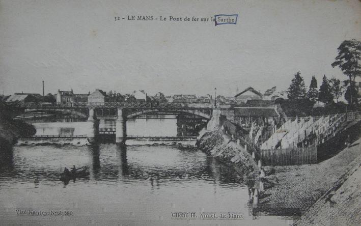 Le Mans - Le Pont de Fer sur la Sarthe