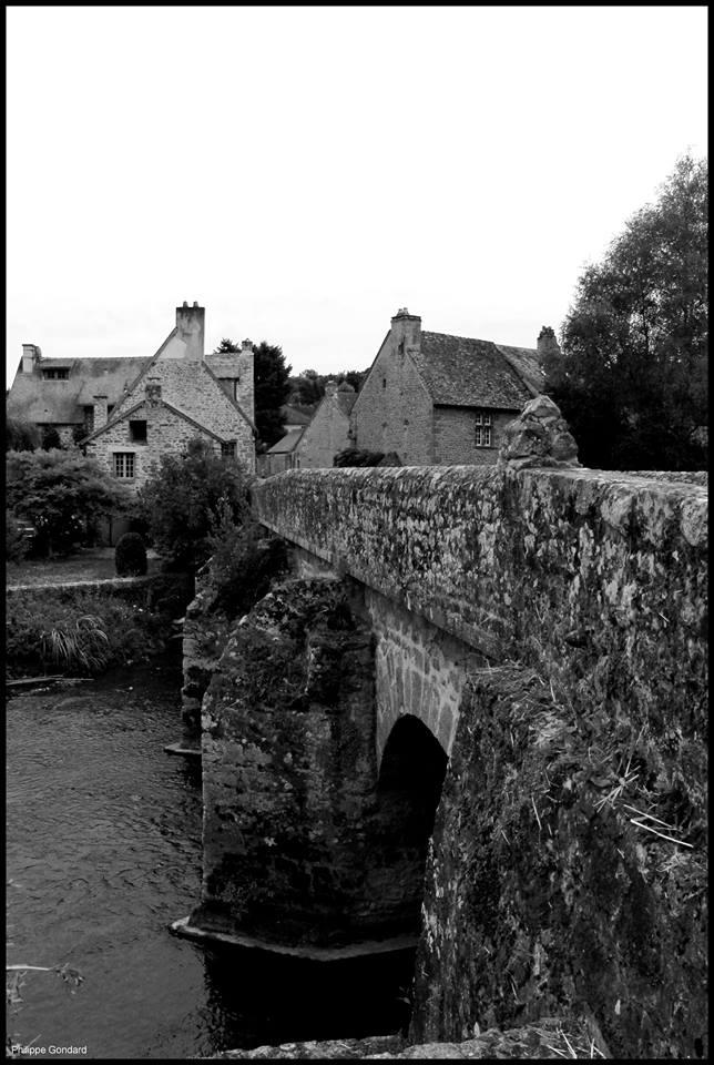 Saint Céneri le Gérei - Dans l'Orne mais sur la Sarthe, et au milieu du pont commence le département de la Sarthe - En face nous sommes sur la commune de Moulins le Carbonnel au lieu-dit Le Pont (Philippe Gondard)