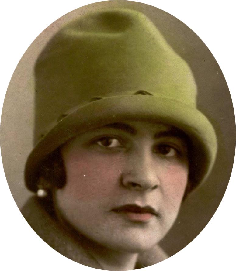 Auvers sous Montfaucon - Portraits - DORE Berthe, Marie épouse LEVEAU Gustave, Louis - Ma grand mère (Sylvie Leveau)