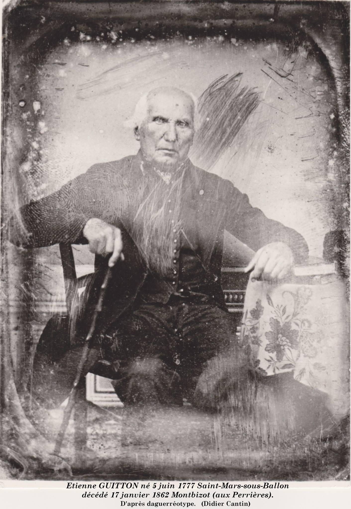 Portraits - GUITTON Etienne - Né en 1777 à Saint Mars sous Ballon (Didier Cantin)