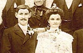 Brains sur Gée - Couples et familles - DORE Albert et SERGENT Marguerite - 1908 (Sylvie Leveau)