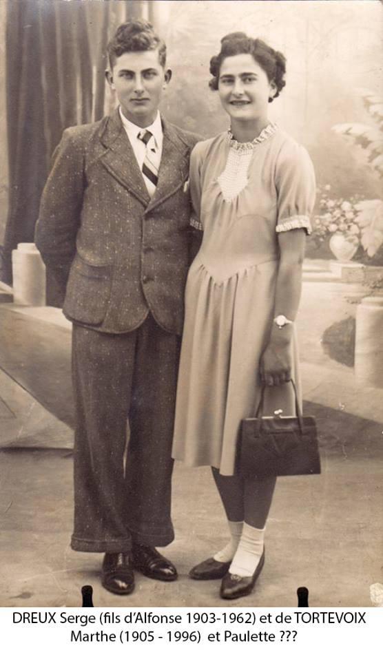Couples et familles - DREUX Serge et Paulette, frère et soeur (Christophe Menu dit Tahiti)