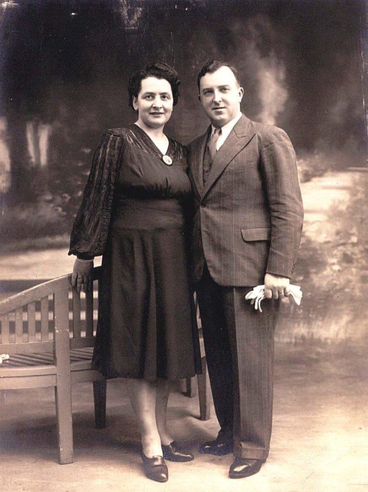 Couples et familles - LEVEAU Gustave, Louis et DORE Berthe, Marie - Mes grands parents (Sylvie Leveau)