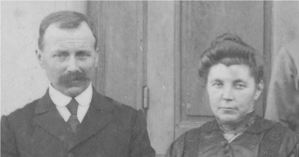 Couples et familles - LEVEAU Gustave, Louis et LANDAIS Marie-Augustine - Mes arrière grands parents - 1921 (Sylvie Leveau)