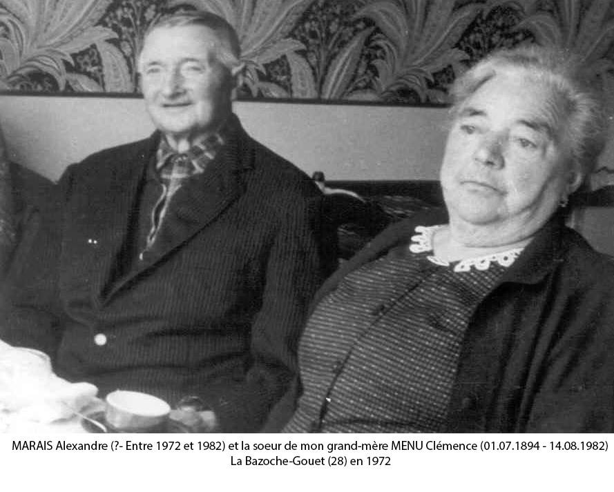 Couples et familles - MARAIS Alexandre et MENU Clémence - 1972 (Christophe Menu dit Tahiti)