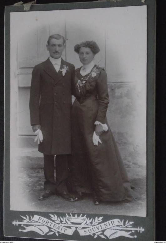 Fresnay sur Sarthe - Couples et familles - Couple inconnu - Vers 1910 (Sylvie Leveau)
