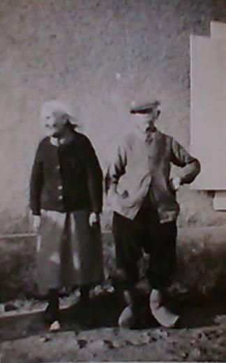 Mézières sur Ponthouin - Couples et familles - BERGEOT Francois et MANCEAU Berthe - Ils se sont mariés à Mézières sur Ponthouin le 23 novembre 1898 et ils ont eu 14 enfants - Mes grands parents paternels - 1950 (Gisèle Guégan)