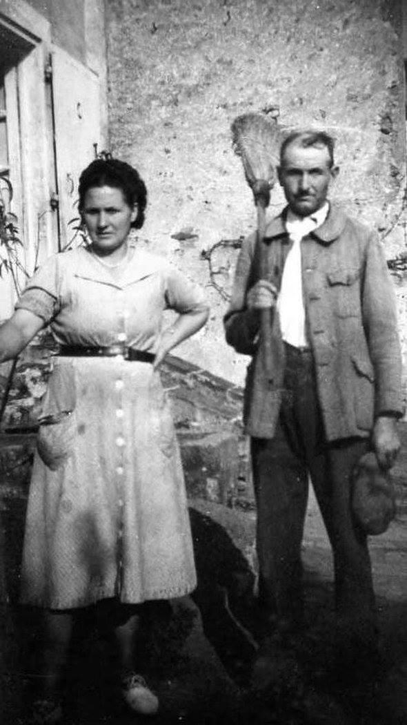 Sillé le Guillaume - Couples et familles - JOUANNEAU René et LEGO Germaine - Mes grands parents (Nicole Jouanneau)