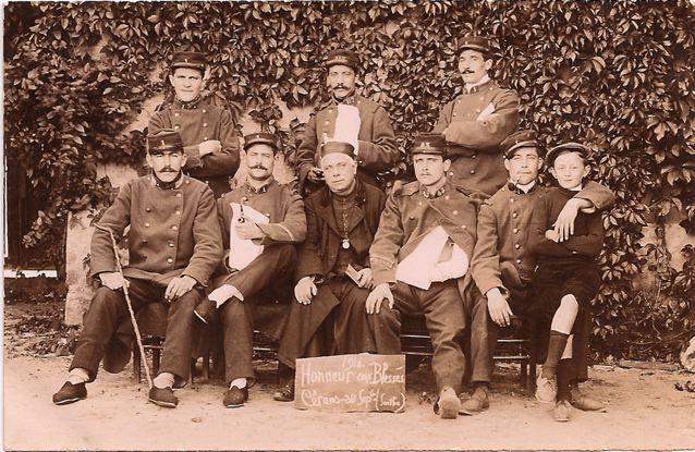 Cérans Foulletourte - Militaires - Guerre 1914-1918 - Honneur aux blessés (Dominique Poisson-Garreau)