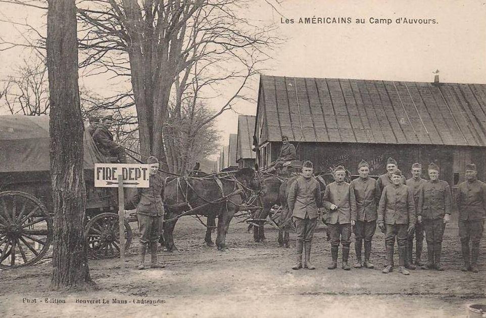 Champagné - Militaires - Guerre 1914-1918 - Les Américains au Camp d'Auvours