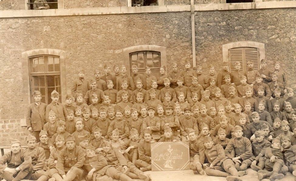 Mamers - Militaires - Guerre 1914-1918 - 21ème Colonial (Françoise Leroux)
