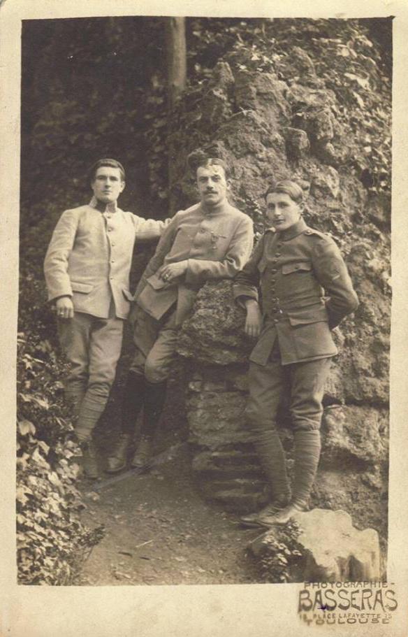 Militaires - Guerre 1914-1918 - PIERCON Léon - En convalescence - Mon grand père - 1918 (Françoise Lebreton)