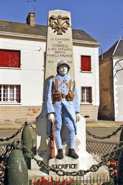Cormes - Monument commémoratif - A ses enfants morts pour la France 1914-1918 (Archives départementales de la Sarthe, 2 O 93-7)