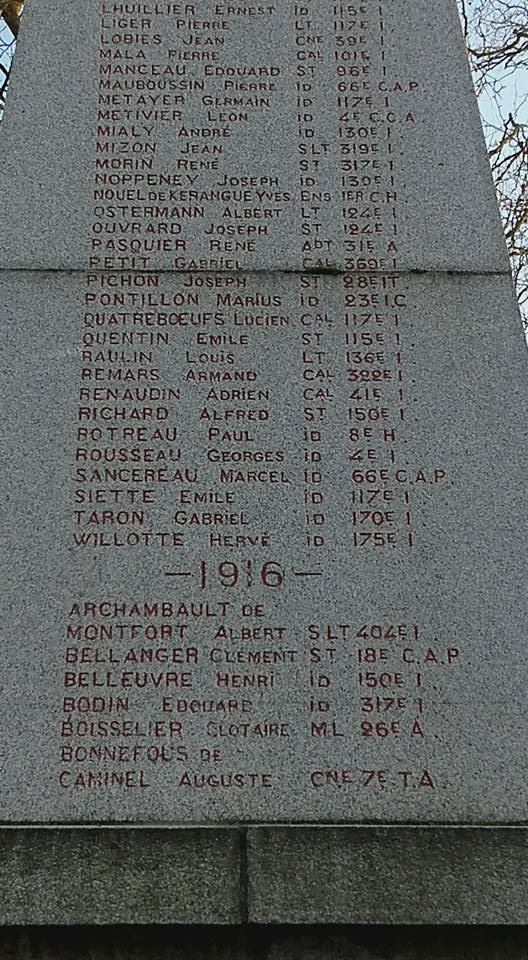 La Flèche - Monument commémoratif - Aux enfants de La Flèche morts pour la France 1914-1918 et 1939-1945 - Face Est - Vue 04 (Michel Mimitontonparrain)