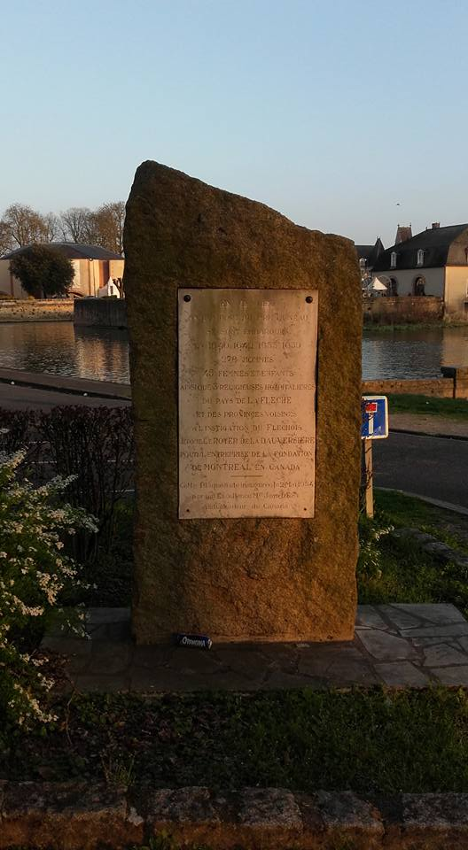 La Flèche - Monument commémoratif - Plaque commémorative de l'ancien port du Pré Luneau - Vue 01 (Michel Mimitontonparrain)