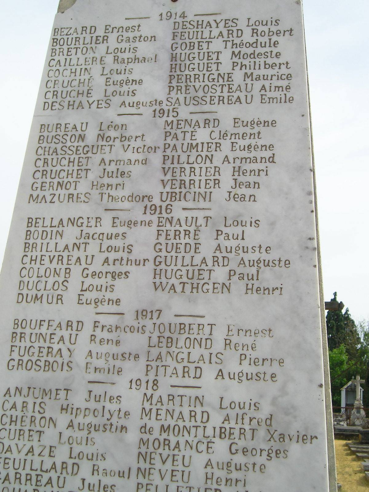 Lavarré - Monument commémoratif - Monument aux morts 1914-1918 et 1939-1945 - Vue 02 (Michel Rogerie)