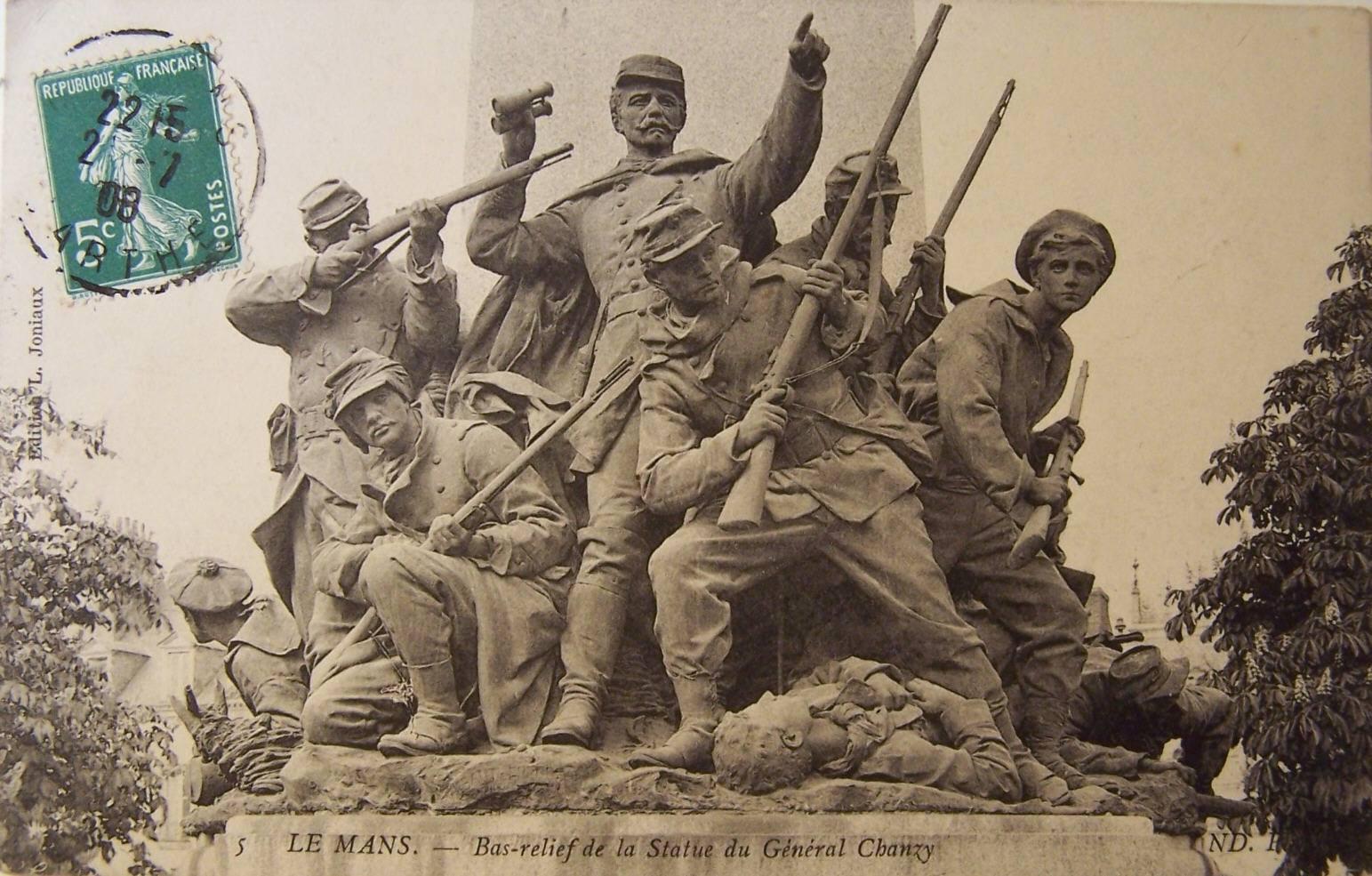 Le Mans - Statue - Bas relief de la Statue du Général Chanzy