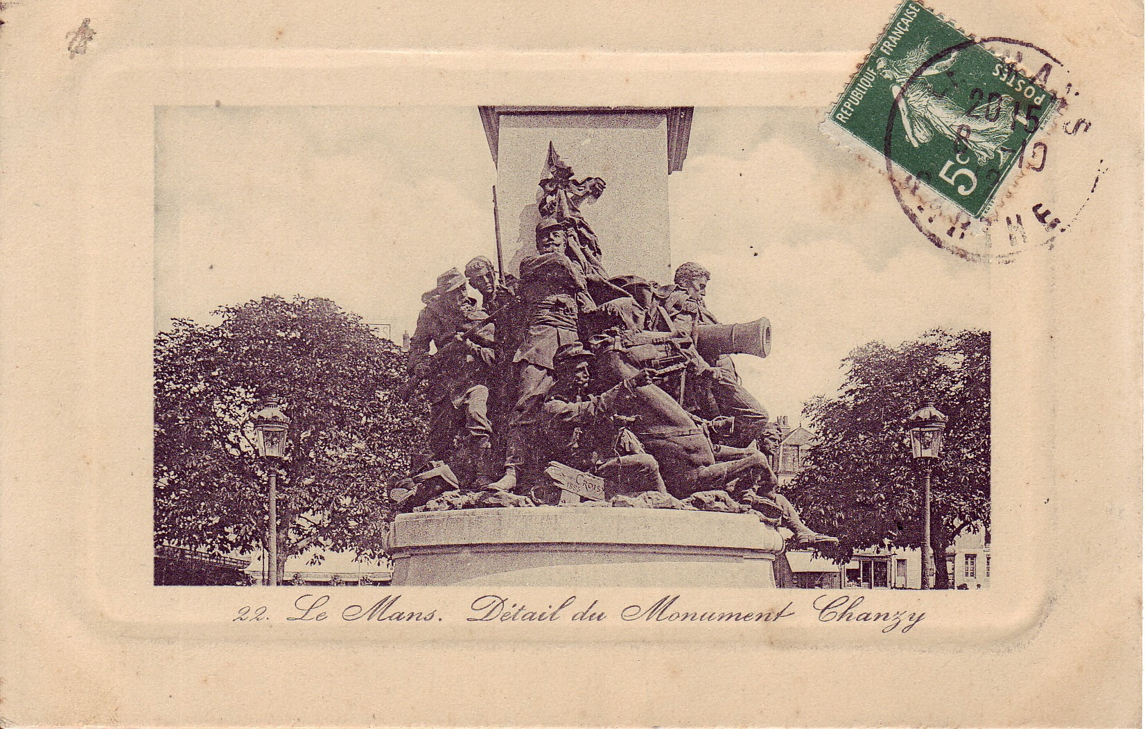 Le Mans - Statue - Détail du Monument Chanzy
