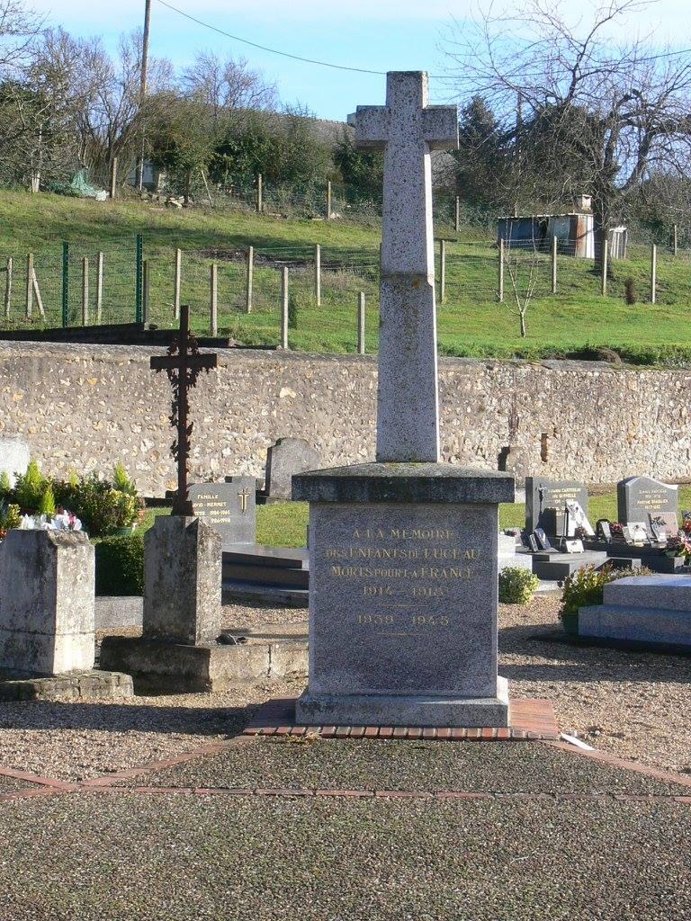 Luceau - Monument commémoratif - A la mémoire des enfants de Luceau morts pour la France 1914-1918 et 1939-1945 - Vue 01 (Chantale Vieux)