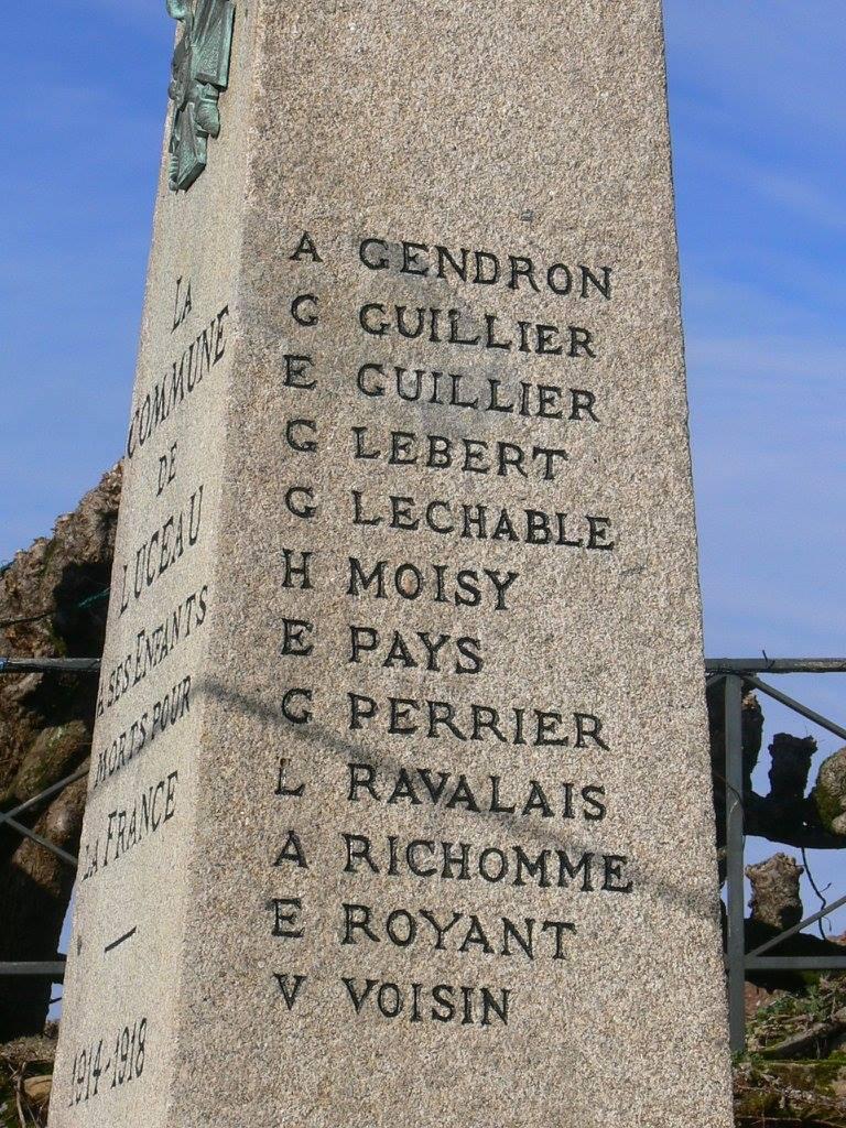 Luceau - Monument commémoratif - La commune de Luceau à ses enfants morts pour la France 1914-1918 - Vue 02 (Chantale Vieux)