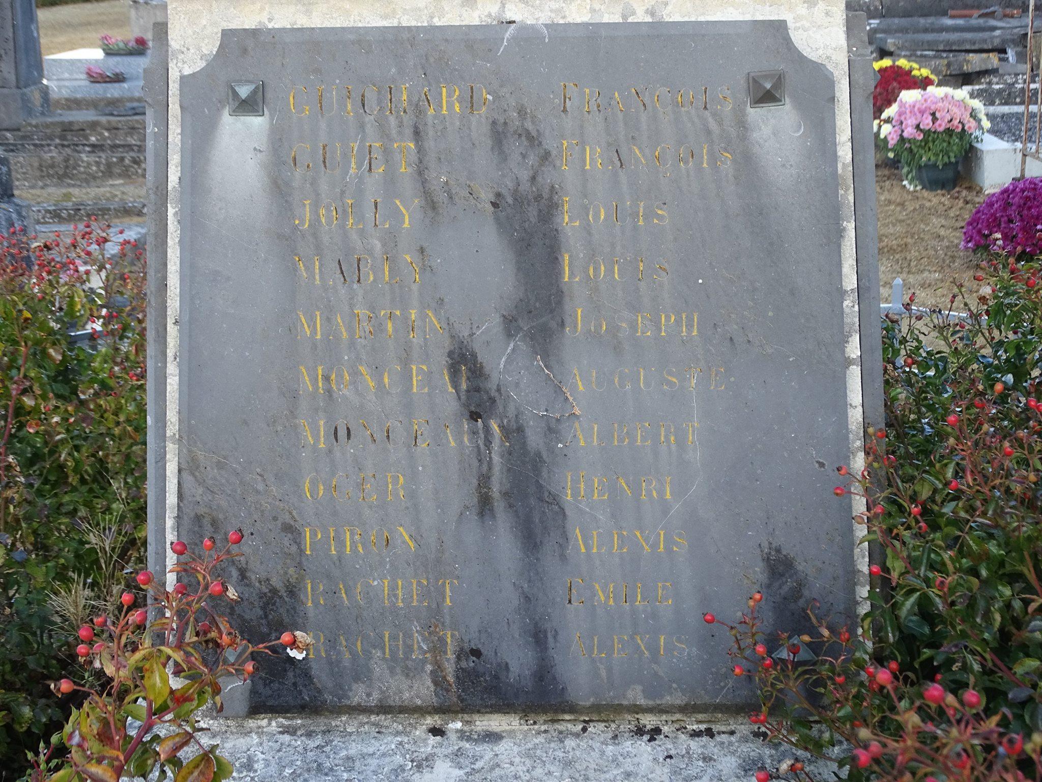 Pirmil - Monument commémoratif - Aux enfants de Pirmil morts au champ d'honneur 1914-1918 - Vue 02 (Marie-Yvonne Mersanne)