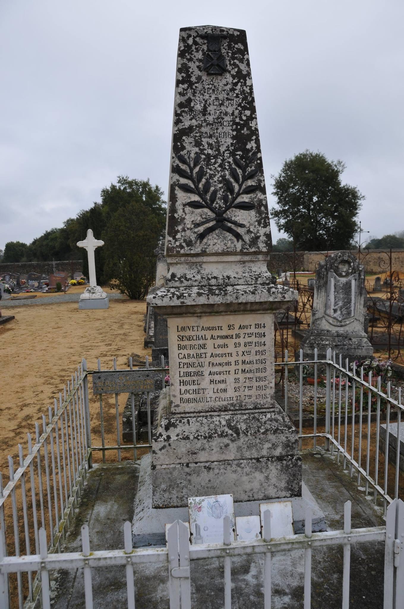 Saint Célerin le Géré - Monument commémoratif - Monument aux morts 1914-1918 - Vue 01 (Romain Christopher Guillaume Lépine)