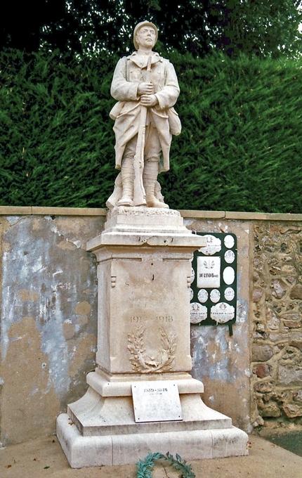 Saint Georges du Rosay - Monument commémoratif - Monument aux morts 1914-1918 (Archives départementales de la Sarthe, 2 O 287-7)