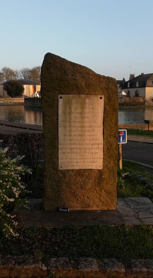 La Flèche - Monument commémoratif - Plaque commémorative de l'ancien port du Pré Luneau 01 (Michel Mimitontonparrain)