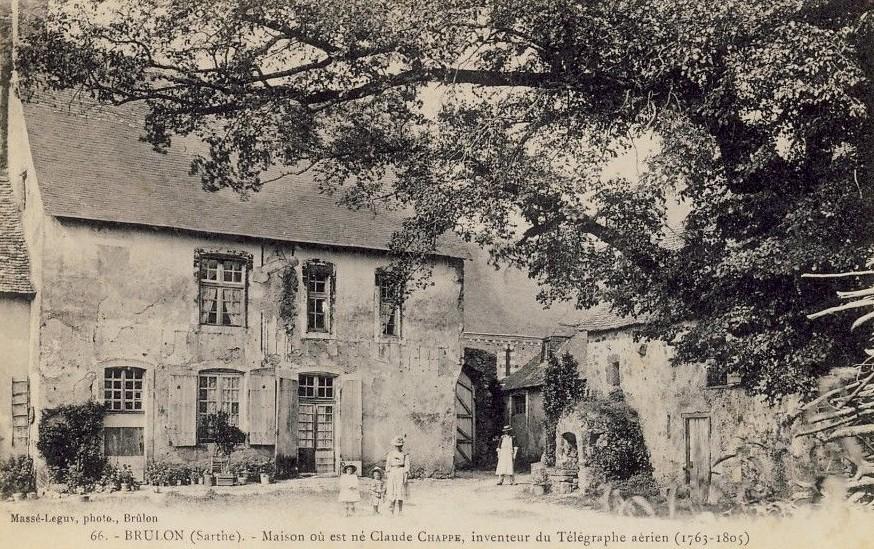Brûlon - Maison où est né Claude Chappe, inventeur du Télégraphe aérien (1763-1805)