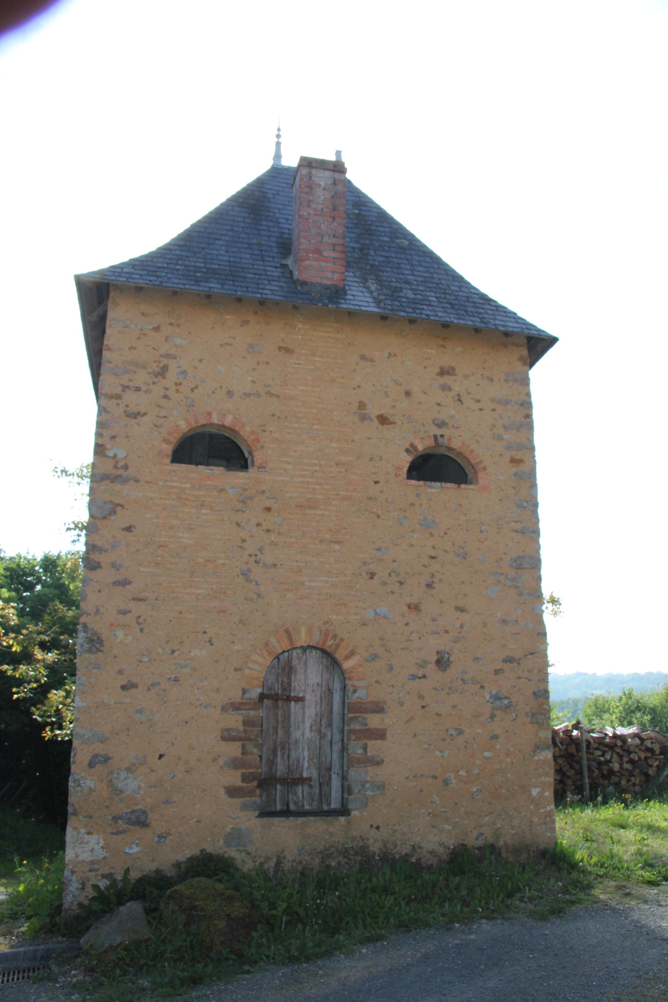 Brûlon - Tour du Pissot - Avec une cheminée, il ne s'agit pas d'un grenier à céréales - La tour du Pissot reste plutôt énigmatique - On pense qu'il s'agit sans doute d'une maison de vigne (Sylvie Leveau)