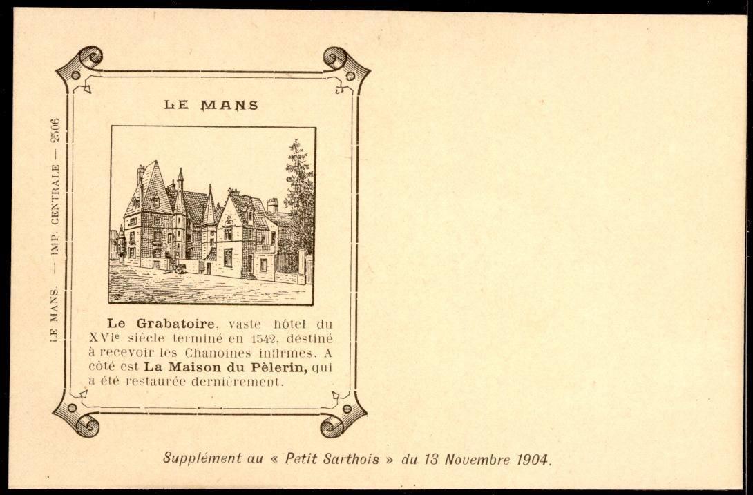 Le Mans - Vieux papiers - Le Grabatoire - Supplément au Petit Sarthois du 13 Novembre 1904