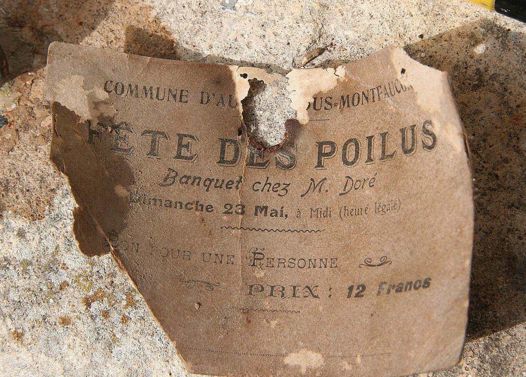Vieux papiers - Ancien billet retrouvé sous une poutre à Auvers sous Montfaucon chez mes arrière grands parents (Sylvie Leveau)
