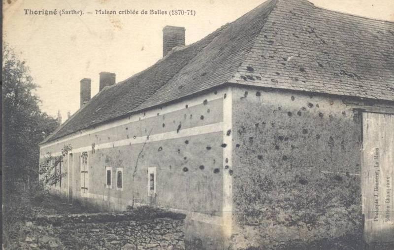 Thorigné - Militaires - Autres guerres - Maison criblée de Balles - 1870-1871 - Vue 02 (Source Internet, www.perche-gouet.net)