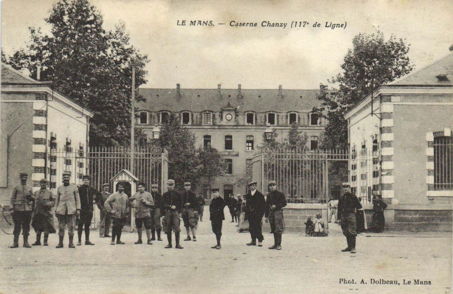 Le Mans - Militaires - Casernes - Caserne Chanzy (117ème de Ligne) 01