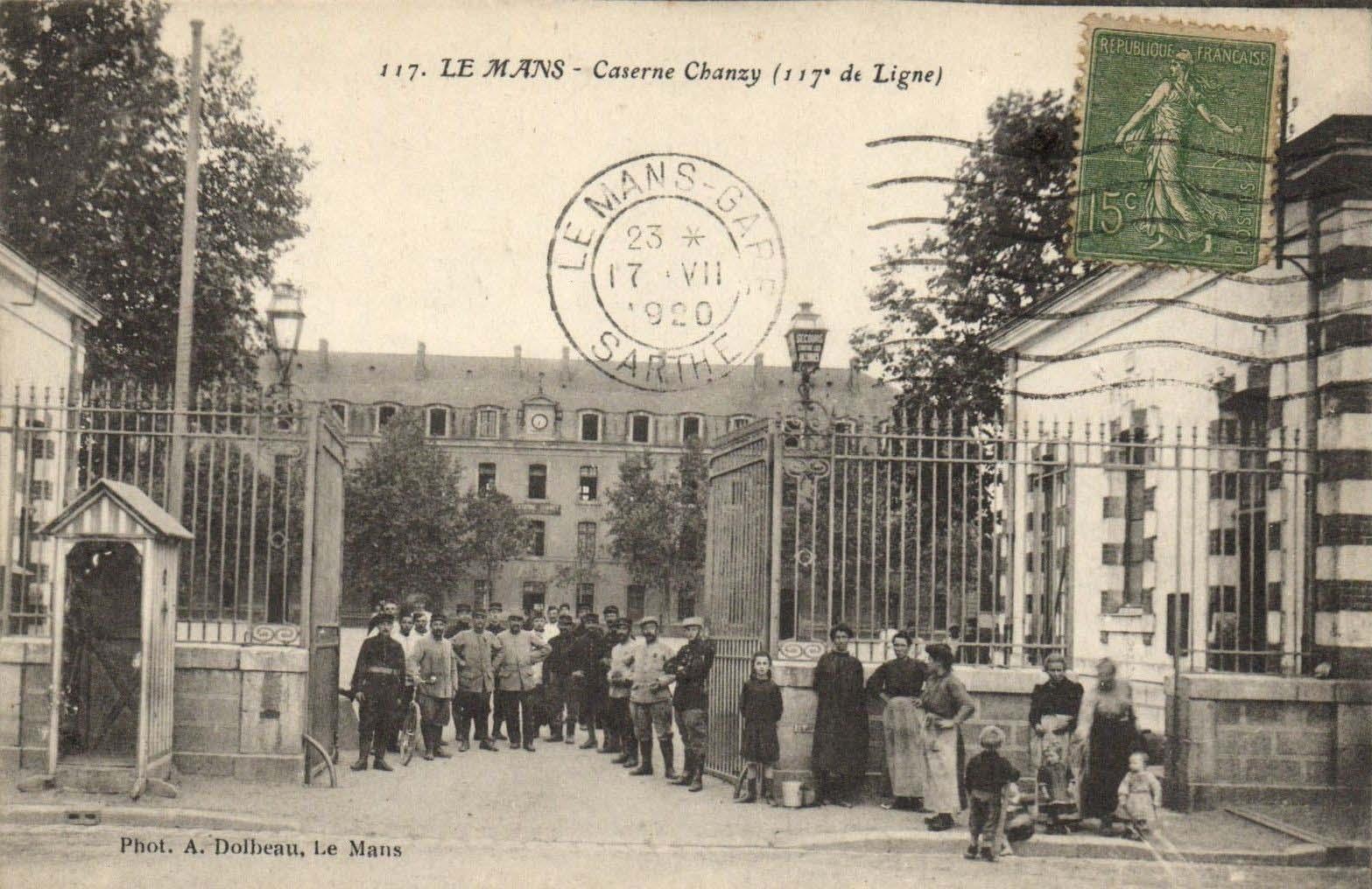 Le Mans - Militaires - Casernes - Caserne Chanzy (117ème de Ligne) 02
