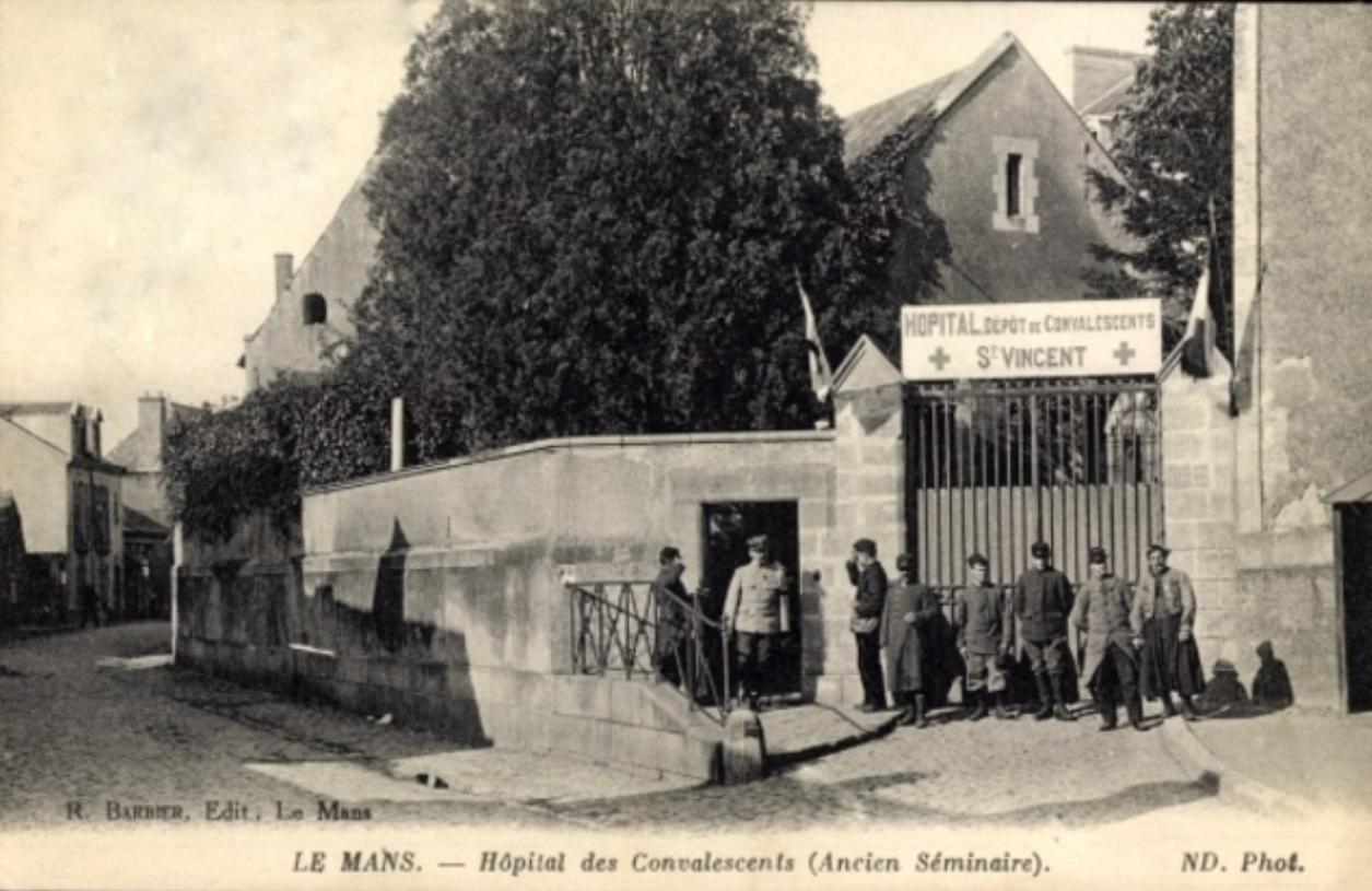 Le Mans - Militaires - Hôpitaux - Hôpital Dépôt de Convalescents Saint Vincent
